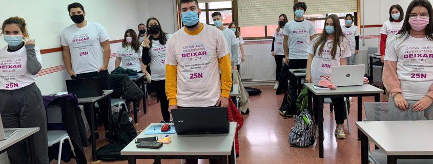 Alumnado da Efa Piñeiral participante en Lingua Denuncia